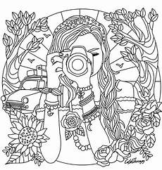 girl with a camera coloring page coloring pages for