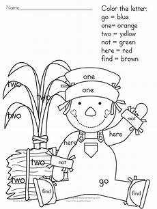fall coloring worksheets for kindergarten 12917 printable fall coloring pages color by letter sight word sight word coloring fall coloring