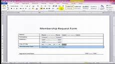 how to create fillable forms in word youtube