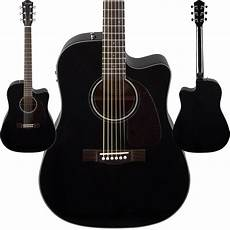 fender cd 140sce acoustic electric guitar black finish dreadnought cutaway new ebay