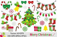 merry christmas clipart vector 43295 illustrations design bundles