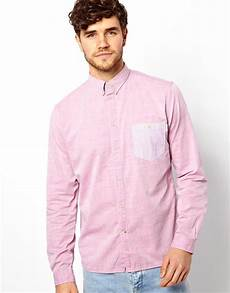 paul smith shirt with contrast pocket in pink for men lyst