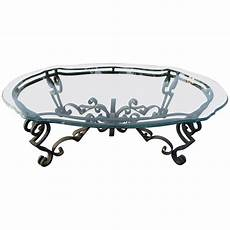 wrought iron coffee tables with glass top wrought iron and glass coffee table at 1stdibs