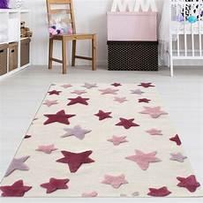 Sternen Teppich Kinderzimmer - kinderzimmer teppich m 228 dchen rosa sterne teppich4kids
