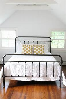 White Metal Bed Frame Bedroom Ideas by Overstock Ethan Home Black Graceful Lines