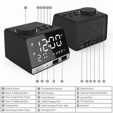 Wireless Bluetooth Speaker Display Dual by Led Display Dual Alarm Clock Dual Units Wireless Bluetooth