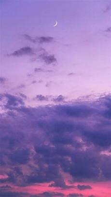 purple aesthetic wallpaper iphone purple sunsets sky twilight crescent moons
