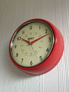 retro vintage shabby wall clock office kitchen clock