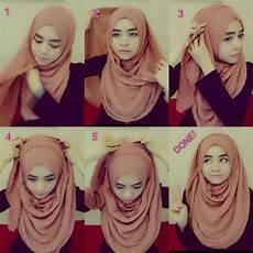 Cara Memakai Jilbab Pashmina Sifon Polos