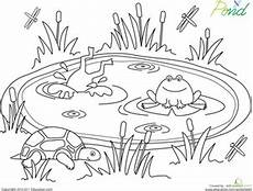 free coloring pages pond animals 17411 pond coloring page 이미지 포함 연못 색칠 공부 자료 공부
