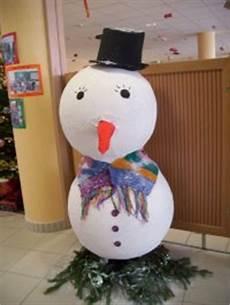 fabrication d un bonhomme de neige en papier mach 233 animachoc