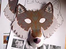 wolf mask printable craft kit kid s craft activity