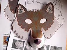 wolf mask printable craft kit kid s craft activity