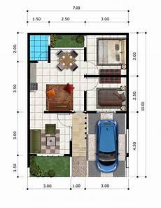 Denah Rumah 3 Kamar Bentuk L Huniankini