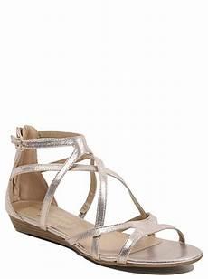 metallic strappy sandals george at asda