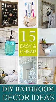 Bathroom Decor Ideas Diy 15 Easy Cheap Bathroom Decor Ideas