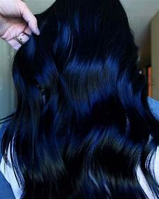 dark midnight blue hair 50 awesome blue black hair color looks trending in october 2020