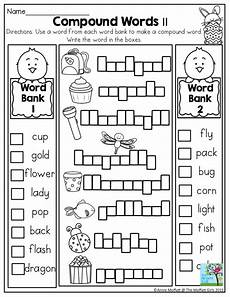 first grade compound words worksheet in the no prep packet for april so many fun activities
