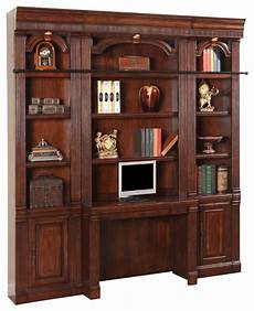 4 piece wellington library bookcase wall unit mahogany finish traditional bookcases by