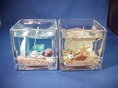 candele gel 2x seashells and sand scented gel candles inside glass ebay