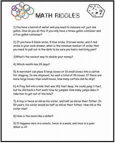 riddle math worksheets printable 10923 critical thinking activities math circles homeschool den