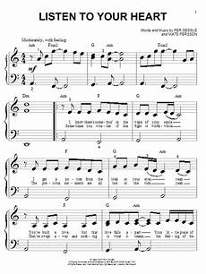 listen to your heart sheet music direct