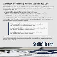 Stellis Health Buffalo Mn My Chart Advance Care Planning Who Will Decide If You Can T