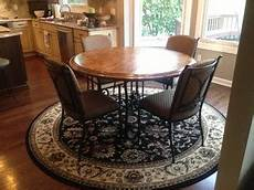 Kitchen Rugs For Table by Need Help On What Shape Rug To Put Kitchen