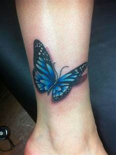 30 cute ankle butterfly tattoos