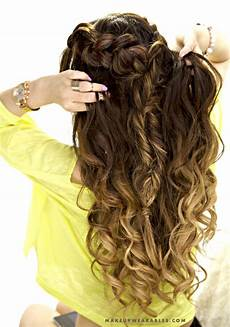 half up half down hairstyle cute easy school hairstyle for medium hair