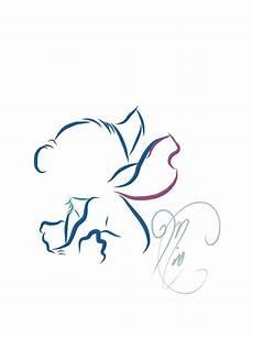 Disney Tattoo Line Art On Behance Stitch Tattoo Disney