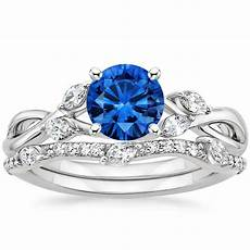 sapphire willow diamond ring with willow diamond