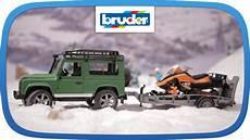 Bruder Malvorlagen Auf Land Rover Mit Snowmobil Und Anh 228 Nger 02594 Bruder