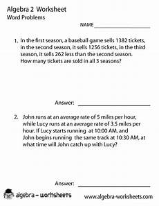 math word problems worksheets grade 2 11276 print the free algebra 2 word problems worksheet printable version