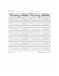 practice the spelling running athele worksheet squares teachers resources sport worksheets for kids
