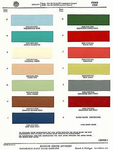 a 1959 ford exterior paint chip color chart ford paint color codes ford fairlane