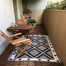 teppich balkon outdoor teppich 120x180 schwarz weiss terrasse balkon garten