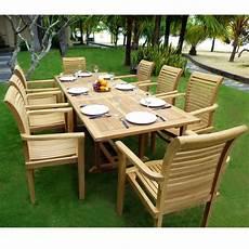 jardin teck mobilier en teck de jardin table flores en teck brut avec