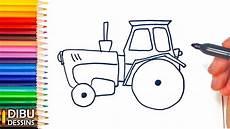 Comment Dessiner Un Tracteur Dessin De Tracteur