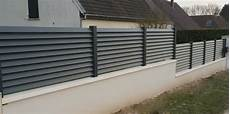 cl 244 ture en aluminium gris anthracite avec lames