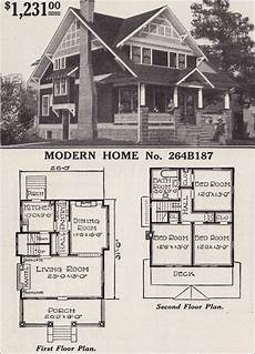half timbered house plans half timbered two story craftsman style bungalow 1916