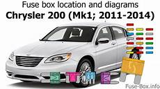 Fuse Box Location And Diagrams Chrysler 200 2011 2014