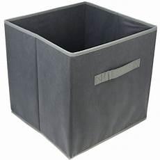 2x aufbewahrungsboxen faltbar faltboxen in grau 30 x 30