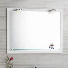 badspiegel mit rahmen dansani quot mido quot spiegel mit rahmen glasablage und led