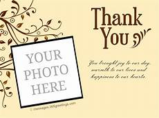 thank you card template for comming to event personalized wedding thank you card 365greetings
