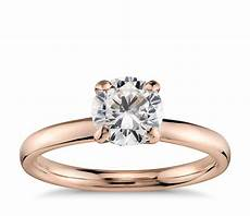 lhuillier amour solitaire engagement ring in 18k rose gold blue nile