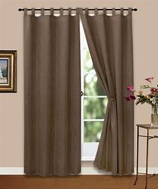 gardinen braun vorhang gardine blickdicht ornamente dunkel braun 140x245