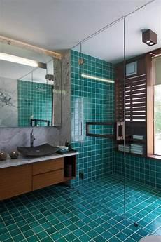 Italienne Mosaique Bleu Salles Bains Design Marbre