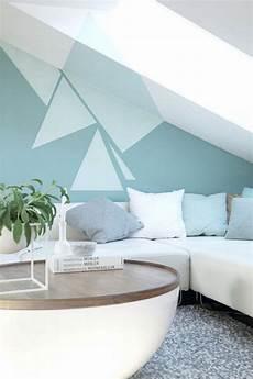 Wand Streichen Muster Ideen - wand streichen muster ideen wohnzimmer dachschraege