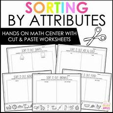 sorting objects by attributes worksheets 7746 sorting by attributes worksheets by s golden apples white
